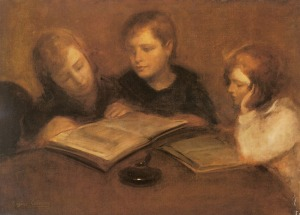 Carriere Eugene - Girls Reading (1849-1906)