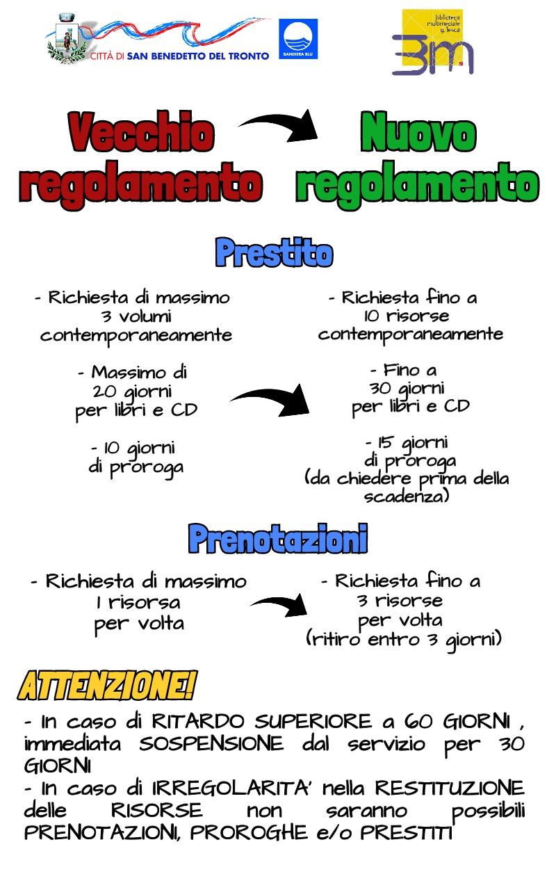 Nuovo regolamento infografica
